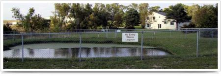 residential wastewater lagoon