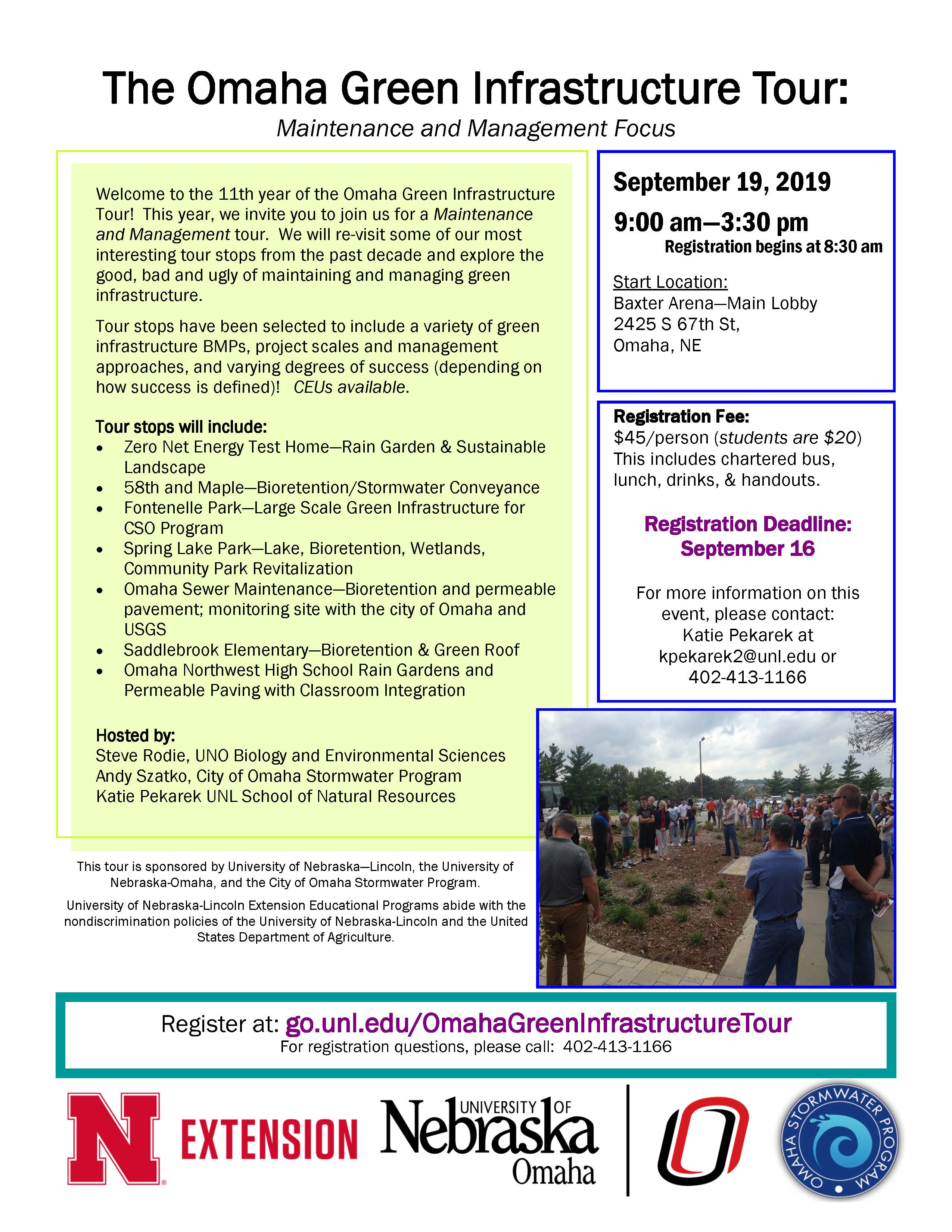 Omaha Green Infrastructure Tour flyer