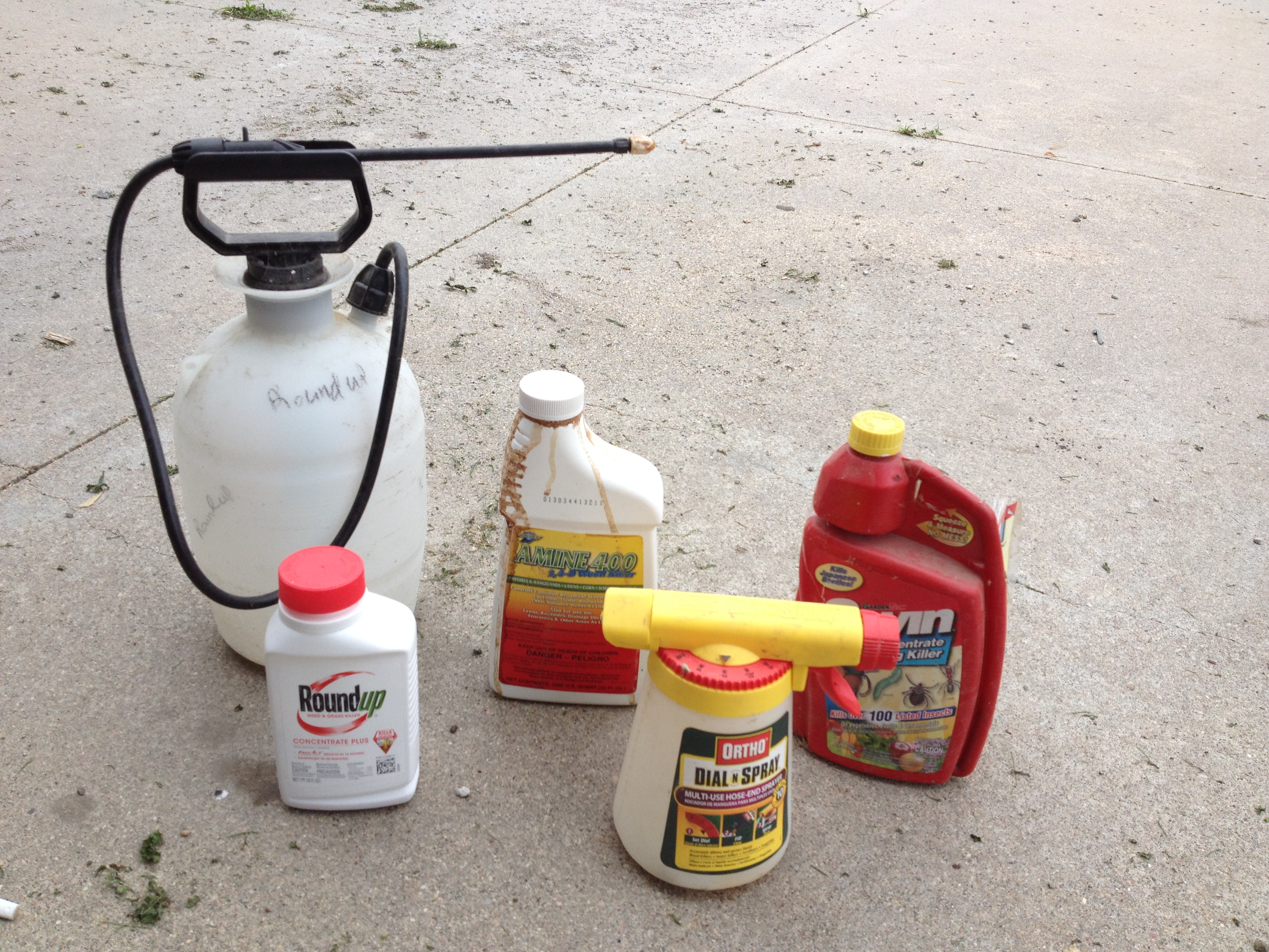 Lawn pesticides and equipment
