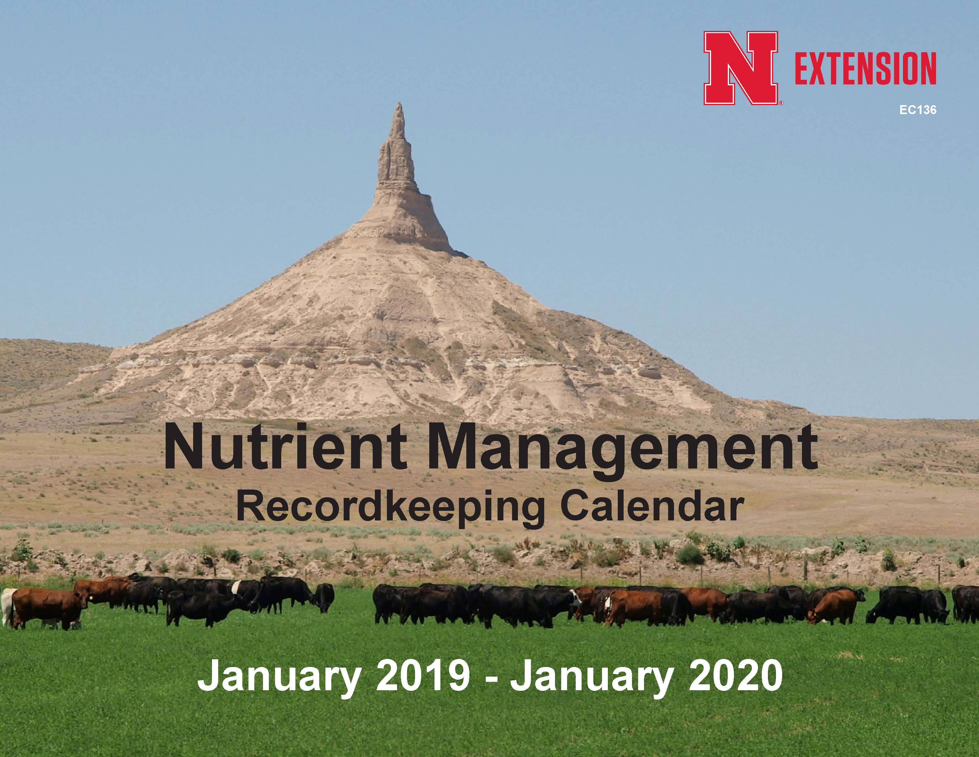 cover of 2019 nutrient management calendar
