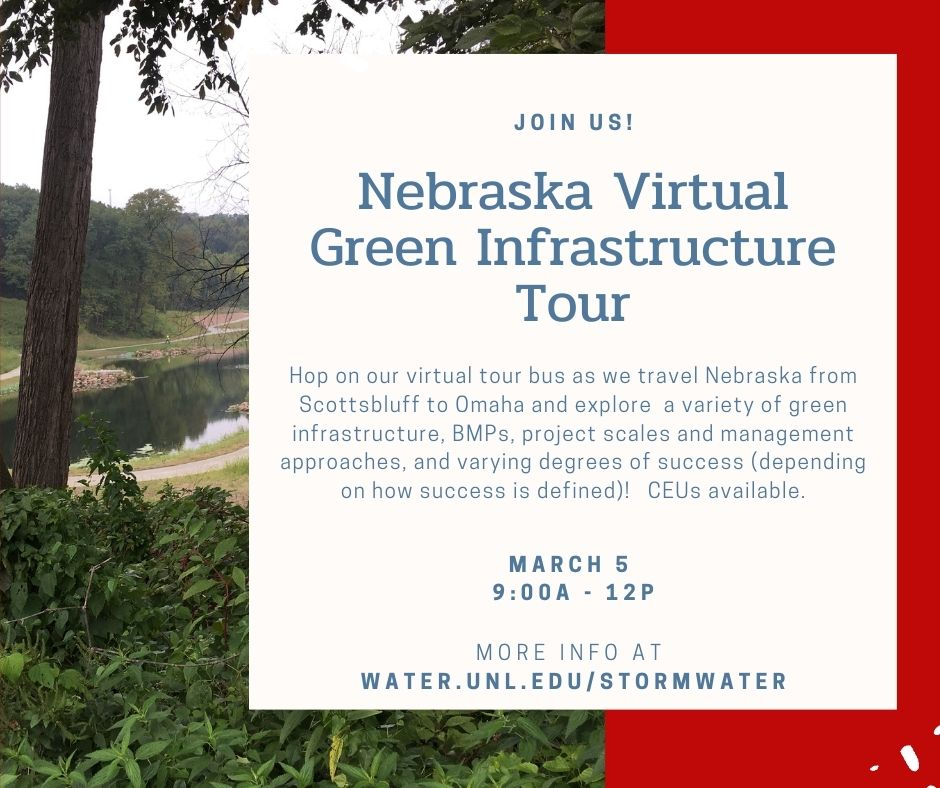 Nebraska Virtual Green Infrastructure Tour flyer