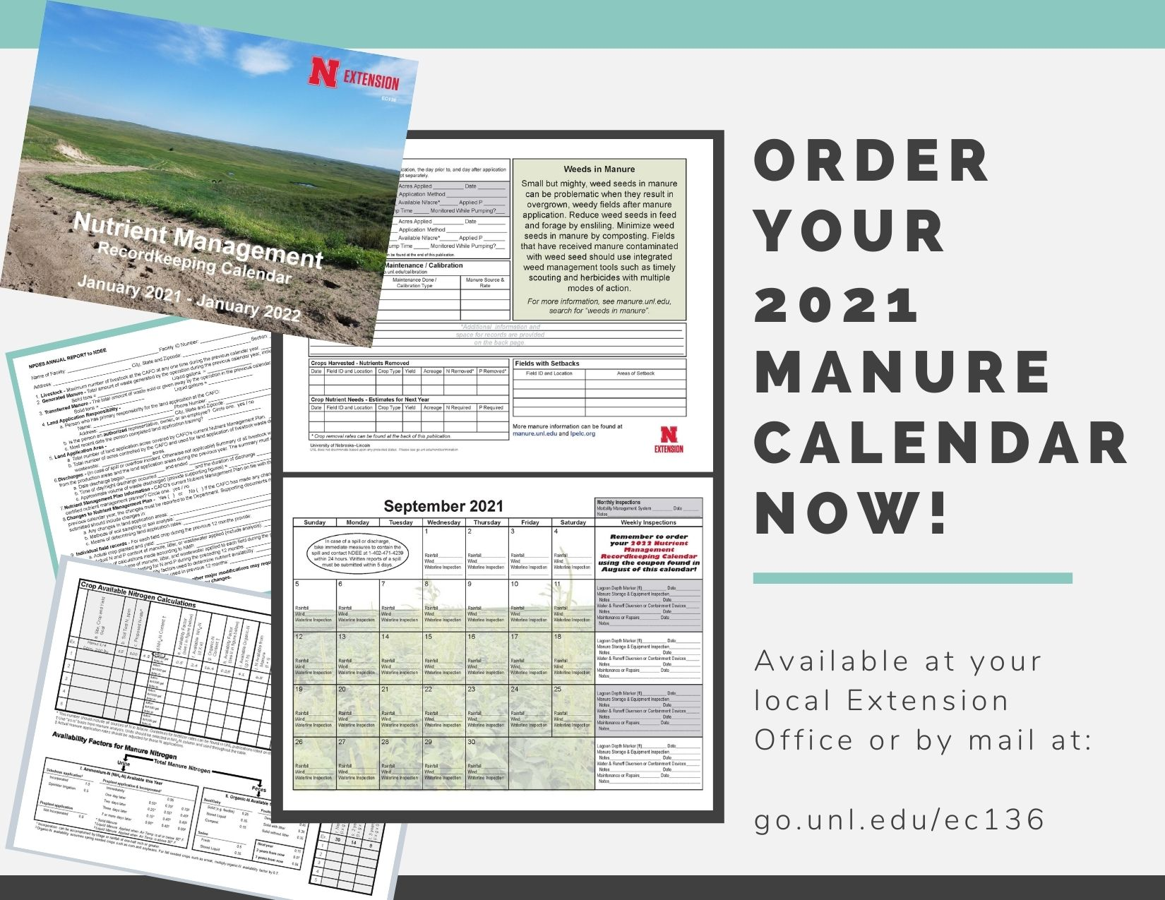 invitation to order your complementary 2021 manure calendar