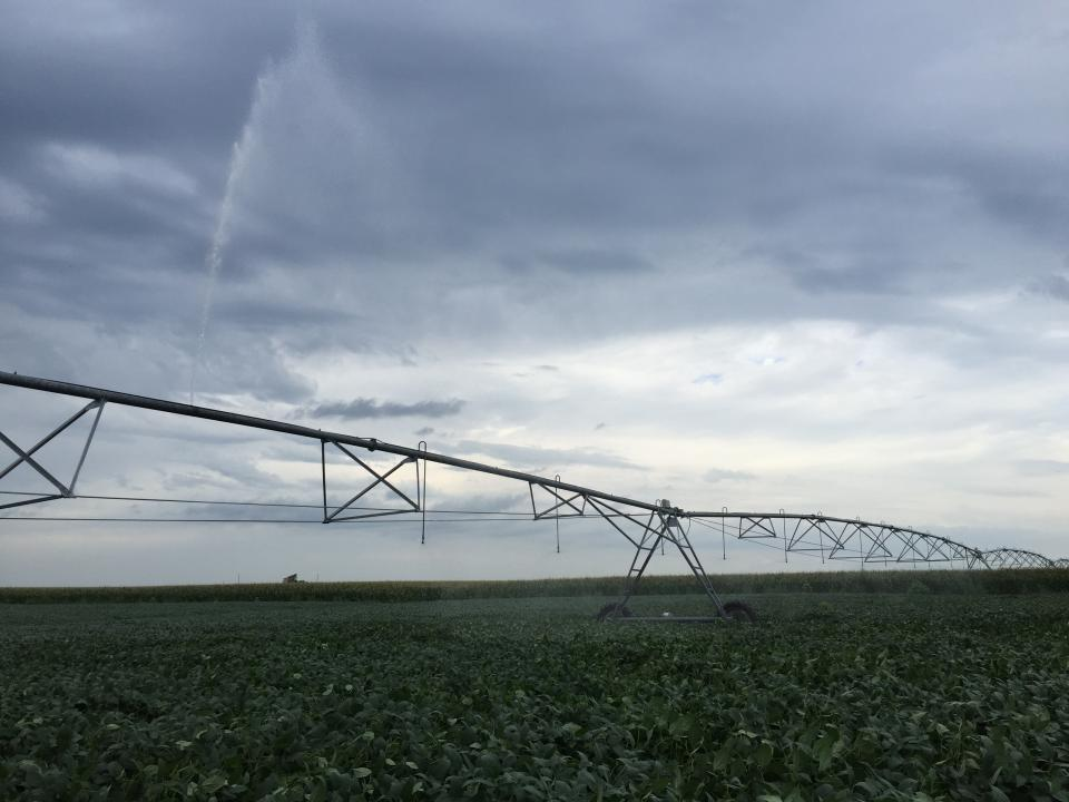 Center pivot with missing nozzle