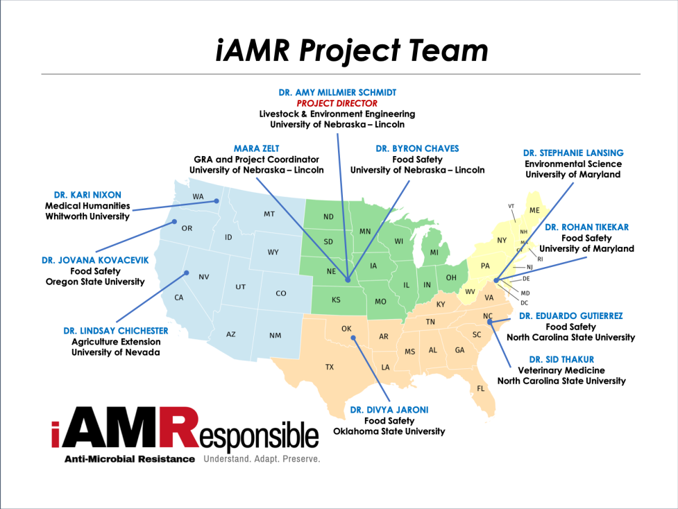 iAMR project team members by region and expertise
