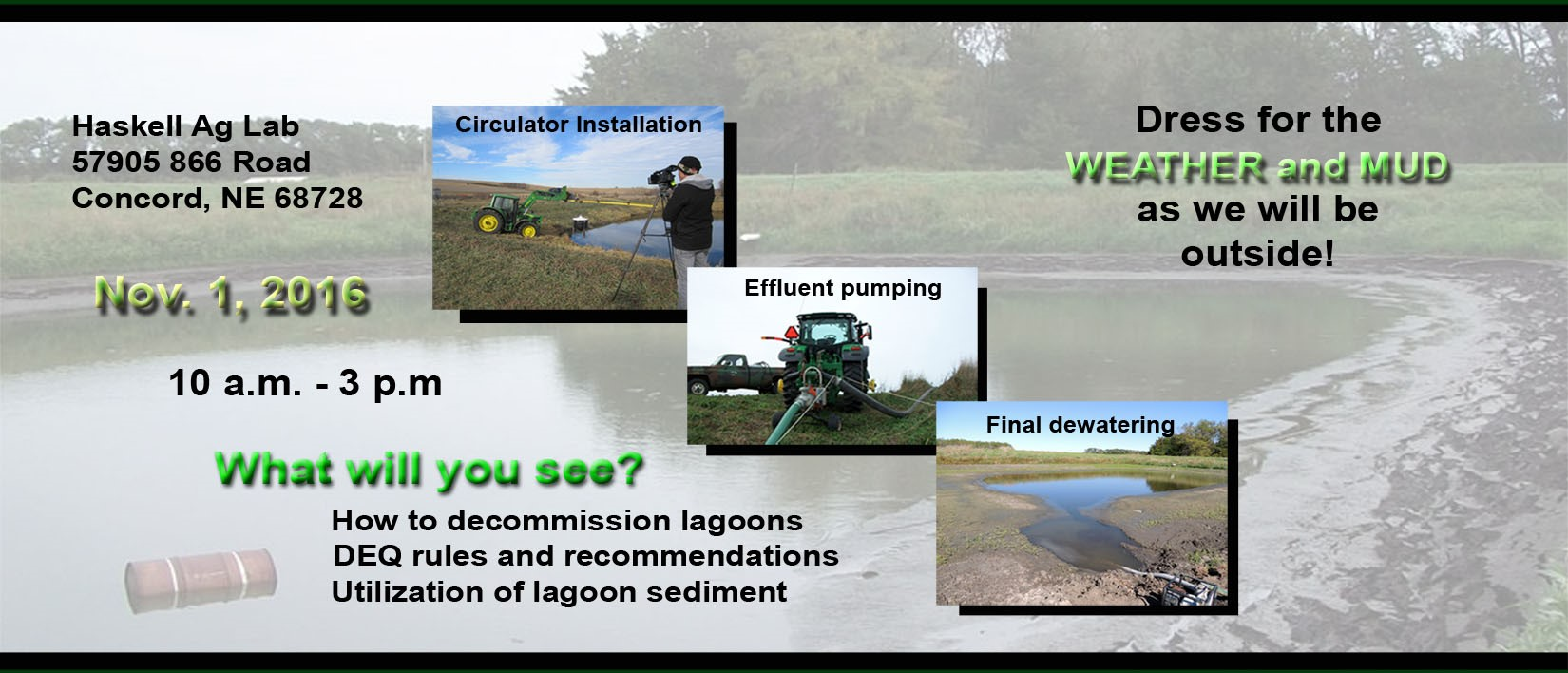 Lagoon Closure Field Day Flyer