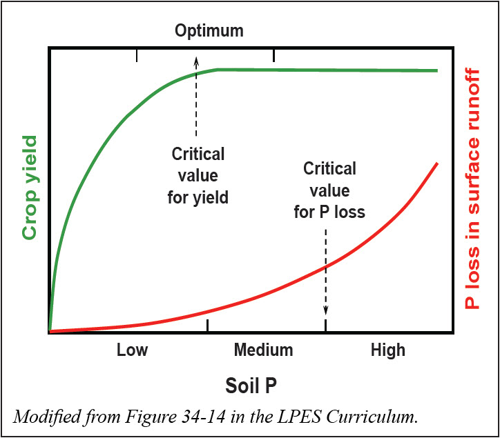 Soils have a critical phosphorus level for optimum crop growth and a critical value above which the potential for phosphorus runoff greatly increases.