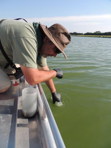 Sampling Lake Water