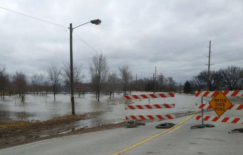 Flooded roads, Picture from Sarah Browning, Nebraska Extension Educator