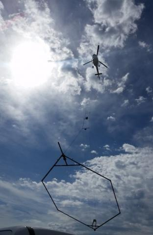 Airborne electromagnetic (AEM) survey