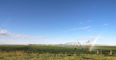 Center pivot irrigation in Scotts Bluff County, Nebraska